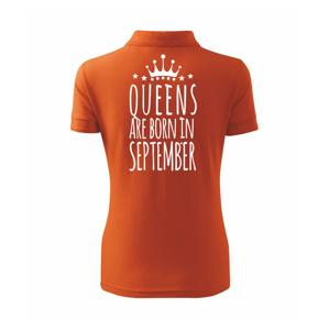 Queens are born in September - Polokošile dámská Pique Polo