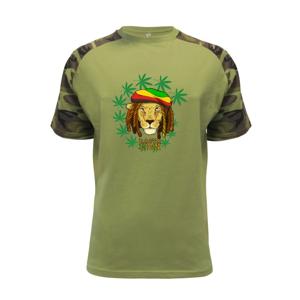 Rasta Lion - Raglan Military