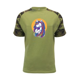 Rasta unicorn - Raglan Military