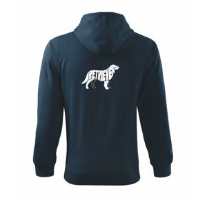 Retrívr - Mikina s kapucí na zip trendy zipper