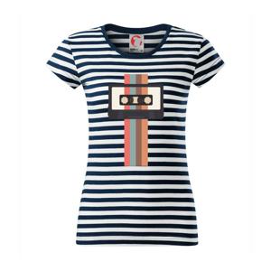 Retro kazeta - pruhy - Sailor dámské triko