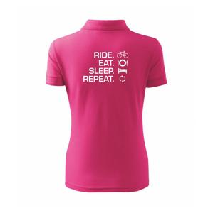 Ride Eat Sleep Repeat kolo - Polokošile dámská Pique Polo