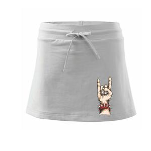 Rocková ruka - Sportovní sukně - two in one