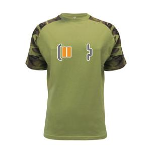 Rodinná trika - baterie - Raglan Military