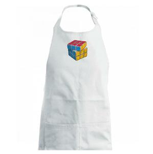 Rubikova kostka kreslená - Dětská zástěra na vaření