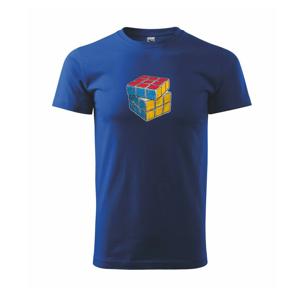 Rubikova kostka kreslená - Triko Basic Extra velké