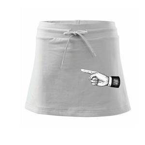 Ruka ukazující směr - Sportovní sukně - two in one