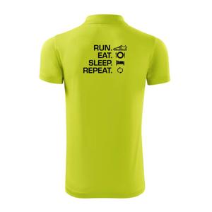 Run eat sleep repeat - Polokošile Victory sportovní (dresovina)