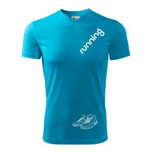 Running nápis šikmo - Pánské triko Fantasy sportovní
