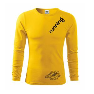 Running nápis šikmo - Triko s dlouhým rukávem FIT-T long sleeve