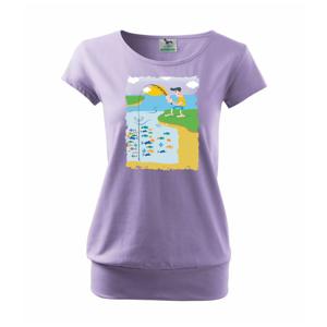 Rybář který má smůlu barevný - Volné triko city