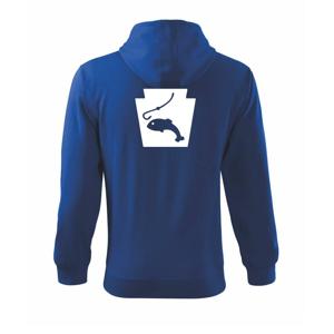 Rybaření - Akvarium - Mikina s kapucí na zip trendy zipper