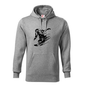 Rychlý snowboardista - Mikina s kapucí hooded sweater