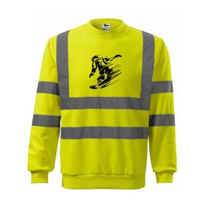 Rychlý snowboardista - Reflexní mikina
