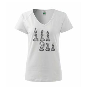 Šachové figurky kreslené - Tričko dámské Dream