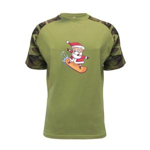 Santa jezdící na snowboardu - Raglan Military