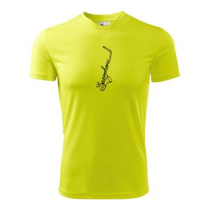 Saxophone nápis - Pánské triko Fantasy sportovní (dresovina)