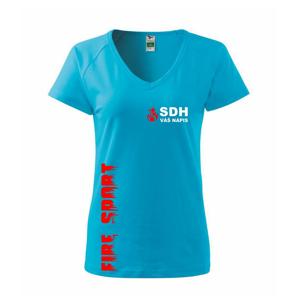 SDH nápis (oheň, firesport, název sboru - vlastní nápis) - Tričko dámské Dream