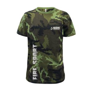 SDH REFLEXNÍ nápis (oheň, firesport, název sboru - vlastní nápis) - Dětské maskáčové triko