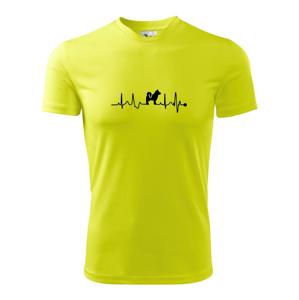 Shiba-Inu EKG - Pánské triko Fantasy sportovní (dresovina)