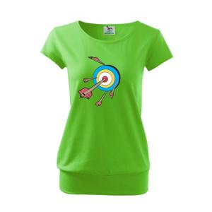Šípy v barevném terči - Volné triko city