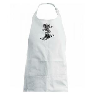 Ski kostra - Dětská zástěra na vaření