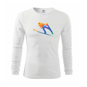 Skokan na lyžích splash - Triko dětské Long Sleeve