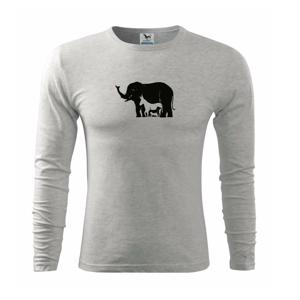 Slon, pes, kočka - Triko s dlouhým rukávem FIT-T long sleeve
