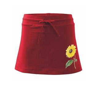 Slunečnice otočená - Sportovní sukně - two in one