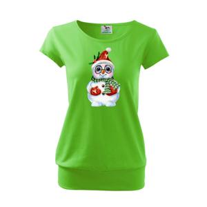 Sněhulák kreslený s brýlemi   - Volné triko city