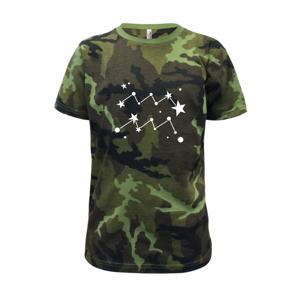 Souhvězdí - Aquarius - Vodnář - Dětské maskáčové triko