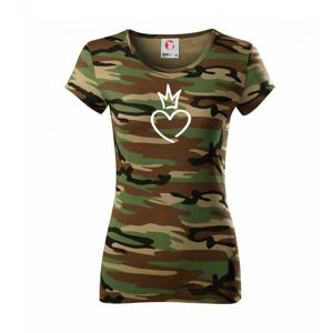 Srdce princezna - Dámské maskáčové triko