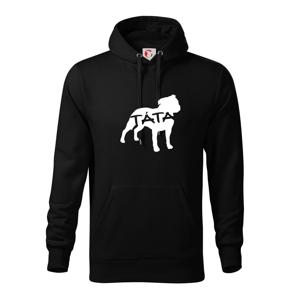 Stafordširský bullteriér táta obrys - Mikina s kapucí hooded sweater