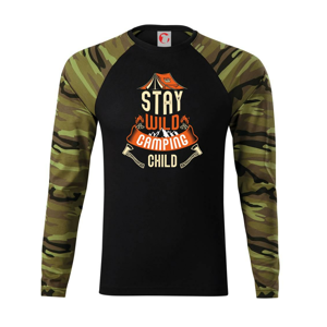 Stay wild camping child - Camouflage LS