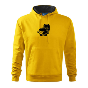Sticker ovce - Mikina s kapucí hooded sweater
