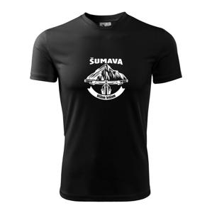 Šumava křížem krážem - Dětské triko Fantasy sportovní (dresovina)