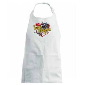Super strojnice - Dětská zástěra na vaření