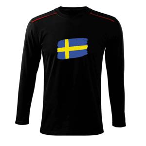 Švédsko vlajka - Triko s dlouhým rukávem Long Sleeve