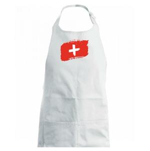Švýcarsko vlajka - Dětská zástěra na vaření