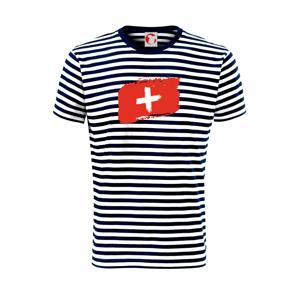 Švýcarsko vlajka - Unisex triko na vodu