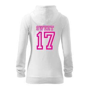 Sweet 17 - Dámská mikina trendy zippeer s kapucí