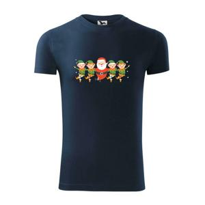 Tancující Santa a čtyři skřítci - Viper FIT pánské triko