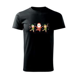 Tancující Santa a dva skřítci - Heavy new - triko pánské