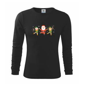 Tancující Santa a dva skřítci - Triko dětské Long Sleeve