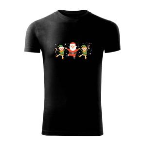 Tancující Santa a dva skřítci - Viper FIT pánské triko