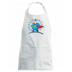 Táta superman - holka - Dětská zástěra na vaření