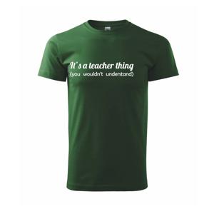 Teacher thing - Triko Basic Extra velké