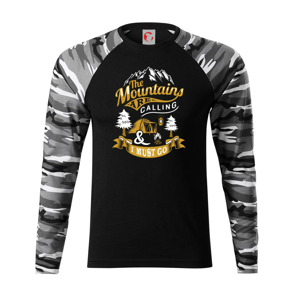The Mountains are Calling Camping - Camouflage LS