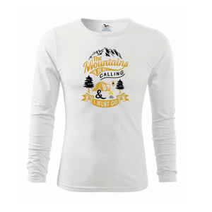 The Mountains are Calling Camping - Triko dětské Long Sleeve
