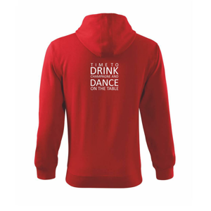 Time to drink Champagne - Mikina s kapucí na zip trendy zipper